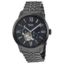 fossil townsman black dial men s multifunction watch me3062