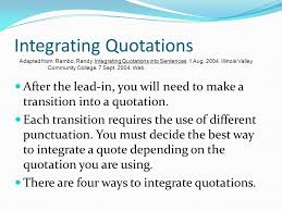 Lead Ins For Quotes Writing Using Leadins Quotes and LeadOuts in paragraphs and 13