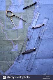 Tools Sailing Nautical Chart Stock Photos Tools Sailing