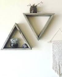 geometric wall shelf triangle wall shelf set of 3 wood triangle shelf geometric wall shelf wall wooden triangle wall triangle wall shelf geometric metal