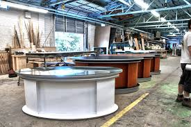 Tv studio furniture Television Elliptic Broadcast News Desk Furniture Glass Top Tv Set Designs Our Elliptic News Desk For Tv Studio Designs