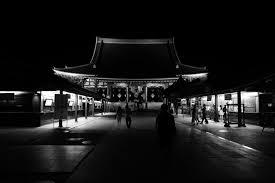 Japan white black monochrome night photography Leica Tokyo Jp Asakusa light  lighting shape darkness summilux leicaq