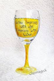 wine glass es funny by on cute wine glass