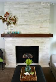 contrast wood mantel