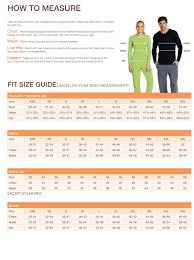 Barco Greys Anatomy Size Chart