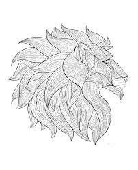 Lion Coloriages Difficiles Pour Adultes Justcolor
