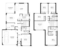 floor plan two y house double 4 bedroom designs perth apg