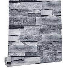 Grey Brick Wallpaper Self Adhesive ...
