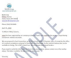 Proof Of Funds Letter Nationwide Hard Money Lenders For Fix And