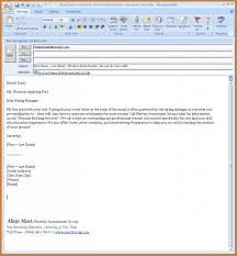 Cover Letter Email Format Notary Letters Writing Resume Oneal Sevte