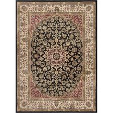 elg5393 8x10 8 x 10 large black red and gold area rug elegance