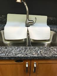 White Kitchen Sink Faucet Splash Guard Guards Faucet Area From