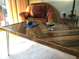 Wooden Coffee Table With Hairpin Legs  101 PalletsPallet Coffee Table With Hairpin Legs
