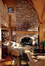 love the fireplace opening natural log home plans better home and garden