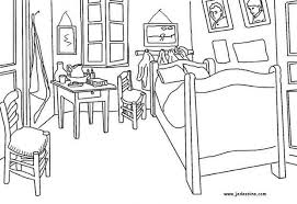 Small Picture Van goghs bedroom in arles france coloring pages Hellokidscom