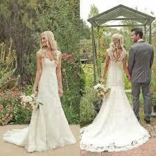 mermaid lace country wedding dress tbdress com