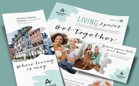 apartment brochures apartment marketing brochures flyers newsletters postcards