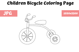 Secondly, coloring for kids it is not only filling with colors finished. Children Bicycle Coloring Page For Kids Graphic By Mybeautifulfiles Creative Fabrica