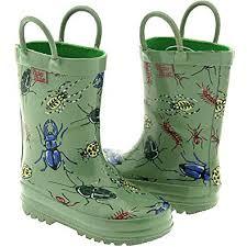 Amazon Com Pluie Pluie Kids Green Bug Rain Boots 5 2