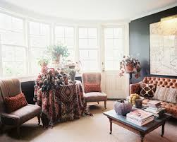 Living Room : Bohemian Living Room With Blue Sofa And Wall Arts ...