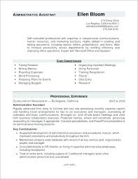 Administrative Assistant Cover Letter Resume Examples Office