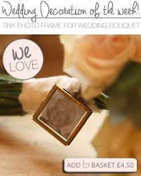 mini photo frame for wedding bouquets