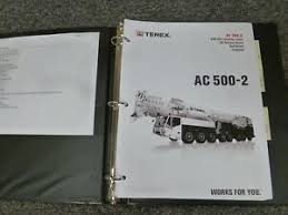 Details About Terex Ac 500 2 Mobile All Terrain Crane Load Chart Capacities Manual Book