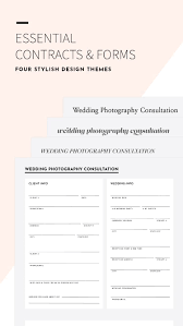 Photography Contracts Available In Four Stylish Design Themes Our Fully