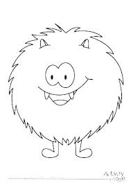 Cookie Monster Coloring Printable Monster Coloring Pages Cookie