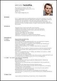 Modelo Curriculum Vitae Responsable De Marketing Livecareer