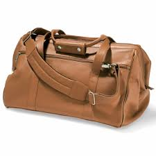 hammacher widemouth leather weekend travel bag suitcase luggage tan carry on