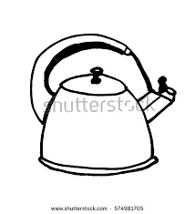 Small Picture Kitchen Utensilscup Saucer Coffeepot Doodle Vector Stock Vector