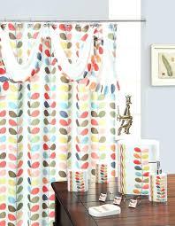 Striped Fabric Shower Curtain Bathroom Brown Fabric Shower Curtains