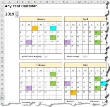 Excel Calendar Template Date Formulas Explained My Online