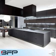 China Luxury Big Kitchen Design 2 Pac Matt Finish Base Cabinet Wood