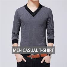 New Clothes Design 2019 Man Us 12 65 40 Off Tfetters Brand Men Clothes 2019 Autumn New Casual Men T Shirt V Neck Patchwork Color Design T Shirt Men Top Tees Oversize 5xl On
