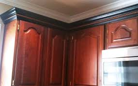 Kitchen Molding Cherry Cabinets Black Molding Black Crown Molding Kitchens