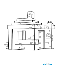 House coloring page from Minecraft video game. More Minecraft ...