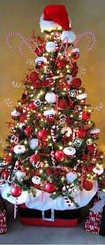 How To Decorate A Candy Cane Christmas Tree candycanechristmastree Christmas Celebration 36