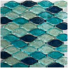 blue glass bathroom tile subway home depot