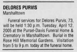 Purvis, Delores Allen - Newspapers.com