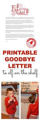 printable goodbye letter for elf on the shelf