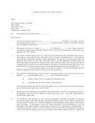 Sample Letter of Credit Template