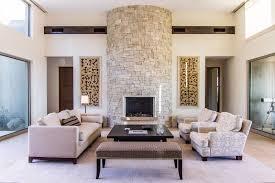 modern living room with brick fireplace. Modern Living Room With Brick Fireplace P