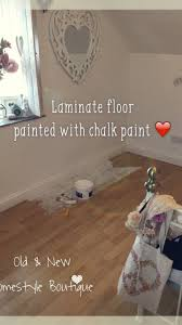 boring laminate floor in my bedroom that i ve painted with chalk painted