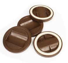 slipstick cb845 3 1 4 inch bed roller furniture wheel gripper caster cups set of 4 chocolate brown color furniture cups amazon