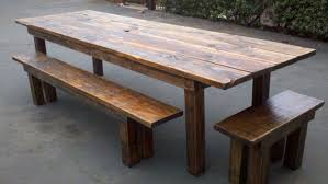 image of reclaimed wood outdoor furniture idea