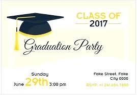 Templates For Graduation Invitations Graduation Party Invitation Card Beauceplus