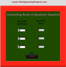 quadratic roots calculation calculating quadratic roots using labview finding quadratic roots in labview