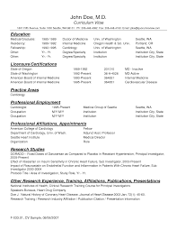 Example Medical Resume Sample Resume Doctor Sle Physician Example And Cover Letter Medical 11